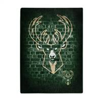 Milwaukee Bucks Blanket 60x80 Raschel Street Design
