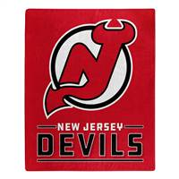 New Jersey Devils Blanket 50x60 Raschel Interference Design - Special Order