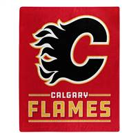 Calgary Flames Blanket 50x60 Raschel Interference Design - Special Order