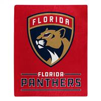Florida Panthers Blanket 50x60 Raschel Interference Design - Special Order