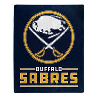 Buffalo Sabres Blanket 50x60 Raschel Interference Design