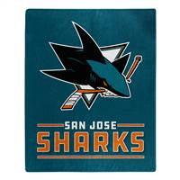 San Jose Sharks Blanket 50x60 Raschel Interference Design