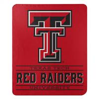 Texas Tech Red Raiders Blanket 50x60 Fleece Control Design - Special Order
