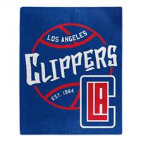 Los Angeles Clippers Blanket 50x60 Raschel Blacktop Design - Special Order
