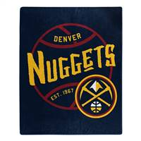 Denver Nuggets Blanket 50x60 Raschel Blacktop Design