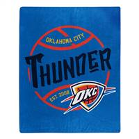Oklahoma City Thunder Blanket 50x60 Raschel Blacktop Design