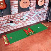 "Maryland Terrapins Putting Green Runner Mat 18""x72"""