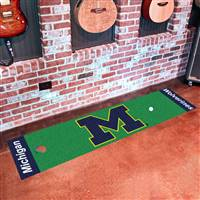 "Michigan Wolverines Putting Green Runner Mat 18""x72"""