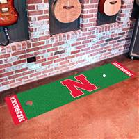 "University of Nebraska Putting Green Mat 18""x72"""
