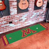 "Minnesota Golden Gophers Putting Green Runner Mat 18""x72"""