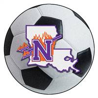 "Northwestern State  Soccer Ball Mat 27"" diameter"