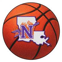 "Northwestern Basketball Mat 27"" diameter"