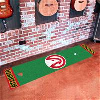 "Atlanta Hawks Putting Green Runner Mat 18""x72"""