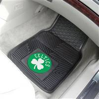 "Boston Celtics Heavy Duty 2-Piece Vinyl Car Mats 18""x27"""