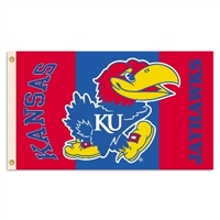 Kansas Jayhawks 2-Sided 3 Ft. X 5 Ft. Flag W/Grommets