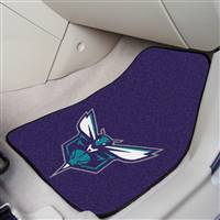 "Charlotte Bobcats 2-Piece Carpeted Car Mats 18""x27"""