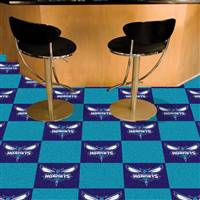 "NBA - Charlotte Hornets Team Carpet Tiles 18""x18"" tiles"