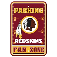 Washington Redskins Plastic Parking Sign - Fan Zone