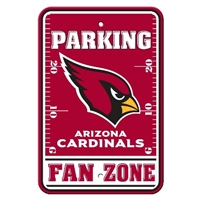 Arizona Cardinals Plastic Parking Sign - Fan Zone