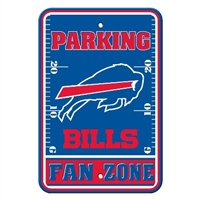 Buffalo Bills Plastic Parking Sign