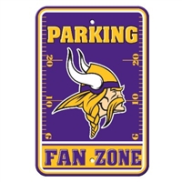 Minnesota Vikings Plastic Parking Sign - Fan Zone
