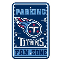 Tennessee Titans Plastic Parking Sign - Fan Zone