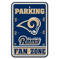 St. Louis Rams Plastic Parking Sign - Fan Zone