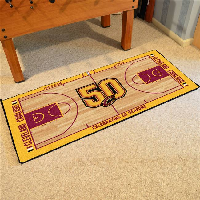 NBA - Cleveland Cavaliers NBA Court Large Runner 29.5x54
