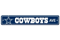 Dallas Cowboys Plastic Street Sign