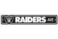 Oakland Raiders Plastic Street Sign