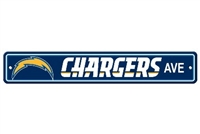 San Diego Chargers Plastic Street Sign