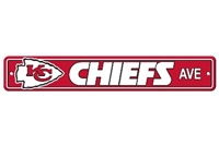 Kansas City Chiefs Plastic Street Sign