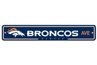 Denver Broncos Plastic Street Sign