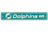 Miami Dolphins Plastic Street Sign