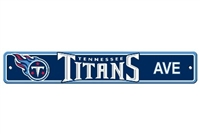 Tennessee Titans Plastic Street Sign