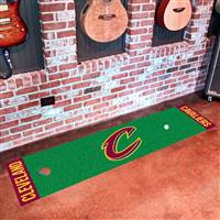 "Cleveland Cavaliers Putting Green Runner Mat 18""x72"""