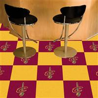 "Cleveland Cavaliers Carpet Tiles 18""x18"" Tiles, Covers 45 Sq. Ft."