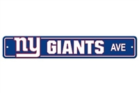 New York Giants Plastic Street Sign