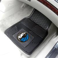 "Dallas Mavericks Heavy Duty 2-Piece Vinyl Car Mats 18""x27"""