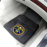 "NBA - Denver Nuggets 2-pc Vinyl Car Mat Set 17""x27"""