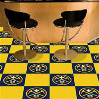 "Denver Nuggets Carpet Tiles 18""x18"" Tiles, Covers 45 Sq. Ft."
