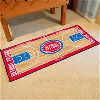 Detroit Pistons NBA Large Court Runner Mat 29.5x54
