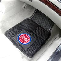 "Detroit Pistons Heavy Duty 2-Piece Vinyl Car Mats 18""x27"""