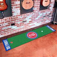 "Detroit Pistons Putting Green Runner Mat 18""x72"""