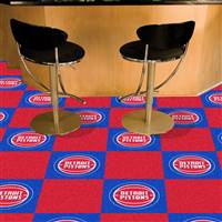 "Detroit Pistons Carpet Tiles 18""x18"" Tiles, Covers 45 Sq. Ft."