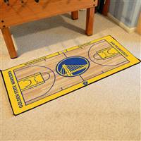 Golden State Warriors NBA Large Court Runner Mat 29.5x54