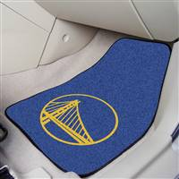 "Golden State Warriors 2-Piece Carpeted Car Mats 18""x27"""