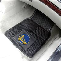 "Golden State Warriors Heavy Duty 2-Piece Vinyl Car Mats 18""x27"""