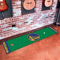 "Golden State Warriors Putting Green Runner Mat 18""x72"""