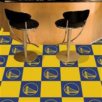 "NBA - Golden State Warriors Team Carpet Tiles 18""x18"" tiles"